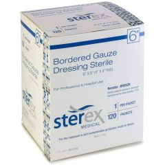 Sterex Bordered Gauze 6X6 Sterile 120/Bx