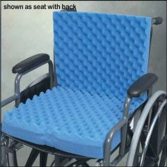 Complete Medical 1960A 18 In. X 32 In. X 3 In. Eggcrate Wheelchair Cushion With Back