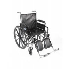 "Emerald Plus 20"" Wheelchair, Dual Ht,Adj.Ht D/A, Elr"