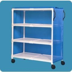 "Linen Cart 3-Shelf 59""H X52""W Indicate Cvr Tpye/Color"