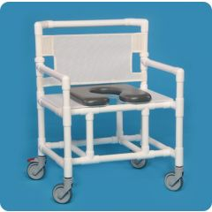 "Soft Seat Shower Commode 27""W 500 Lbs"