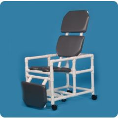 "Reclining Shower Chair/Commode 20"" 300Lb.Cap"