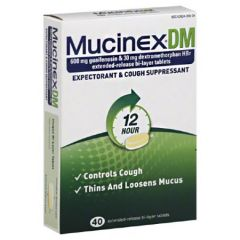 Mucinex Dm 600Mg 40`S