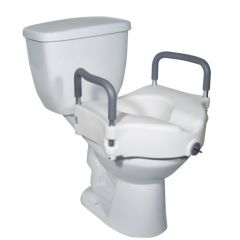 Drive Medical Raised Toilet Seat With Tool-Free Removable Arms