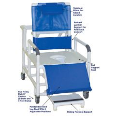 "26"" Pvc Recl.Shower Chair-600 Lb"