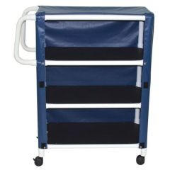 Pvc 3- Shelf Linen Cart 38Wx20Dx61H Indicate Color/Mesh Or Vinyl