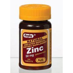 Zinc Tabs 50Mg 100'S (Zinc Gluc.)