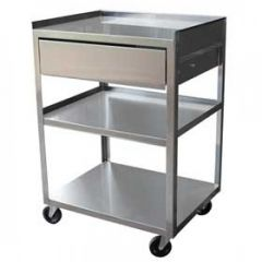 3-Shelf Suction Machine Cart W/ Drawer